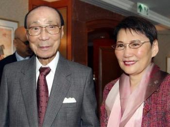 Mona Fong Yat Wah with her husband, the late Run Run Shaw