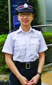 Janet Chan, operations boss at Sai Kung police station