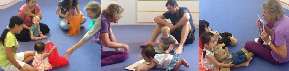 Educator Lauralynn Goetz in purple