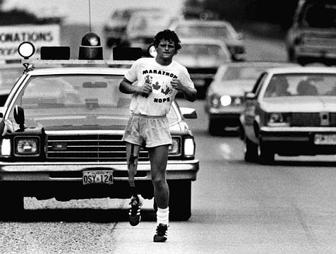 After losing a leg to cancer, Terry set off to run across Canada