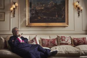 David Tang in one of his opulent but cluttered homes; one is on the seaside near the country park. Credit: London Evening Standard