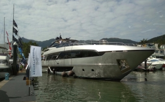 Riva 100ft multi-deck gin palace $78 million if delivered in Italy.