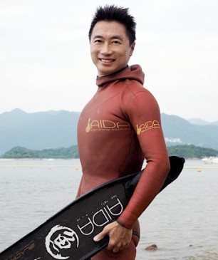 Chris Cheung, record holder and President of the HK Free Diving Association. Credit: HKFDA