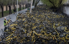 Abandoned bikes in China Photo: Bicycling