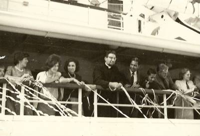 In 1962 arriving in Hong Kong